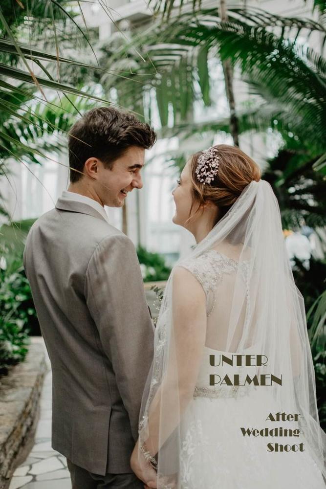 Brautpaar im Gewächshaus