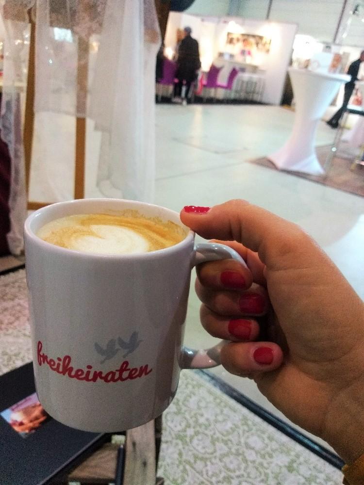 Kaffeetasse mit Michkaffee auf der Traumesse in Mannheim 2019
