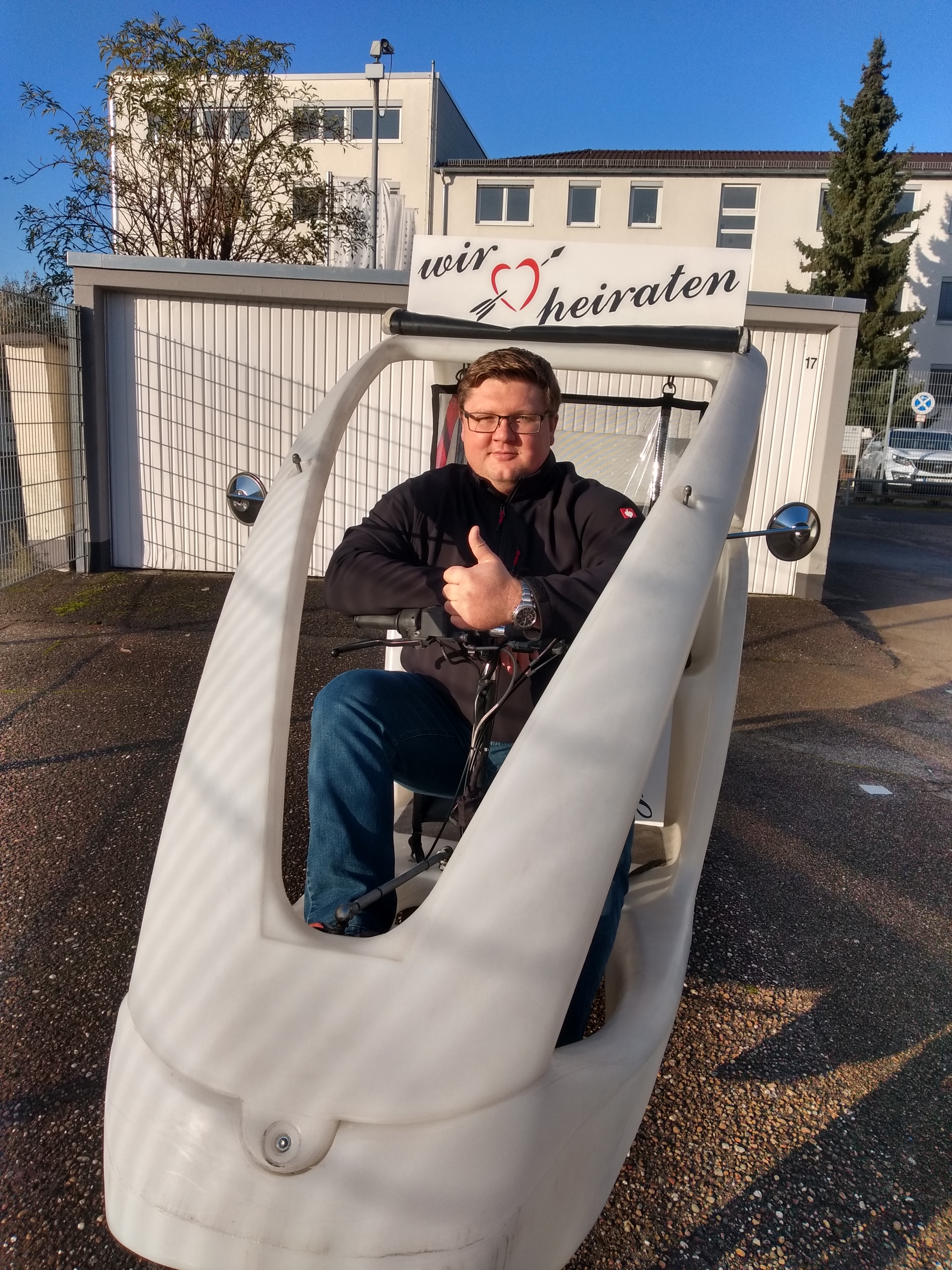 Moritz Beumer fährt auch selbst im velo